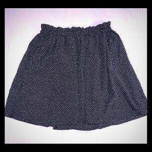 Forever 21 Small midnight blue polka dot skirt.